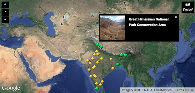 Click to see the UNESCO WHS sites in India, external link opens in a new window