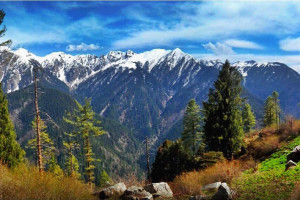 View - from - Rakhundi - Tirthan valley - GHNP (Click to enlarge)